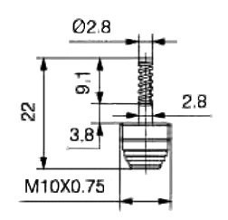 Air Conditioning Valve Core M10x076