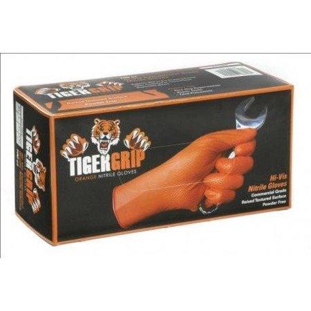 Tiger Grip Orange Nitrile Gloves - L (box 100pcs)