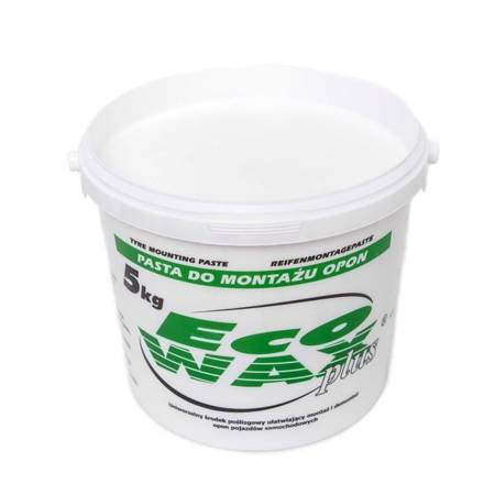 """""""ECO-WAX plus"""" pasta montażowa do opon 5kg biała"""