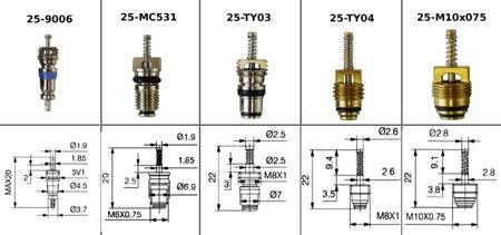 Wkład zaworu klimatyzacji MC531 6mm